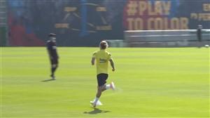 تمرینات آماده سازی بارسلونا برای دیدار با آلاوس