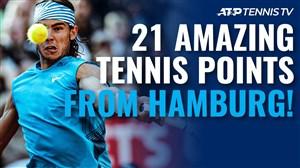 21 امتیاز شگفتانگیز در مسابقات تنیس هامبورگ