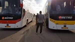 ورود تیم ماشینسازی و گلگهر به ورزشگاه شهید سلیمانی