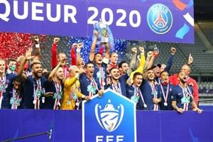 جشن قهرمانی پاریسی ها در جام حذفی فرانسه