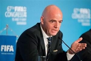 رئیس فیفا: فوتبالیست ها در اولویت واکسن نیستند