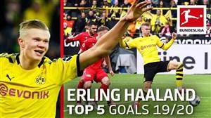 5 گل برتر ارلینگ هالند در فصل 20-2019