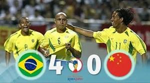 بازی خاطره انگیز برزیل - چین در جام جهانی 2002