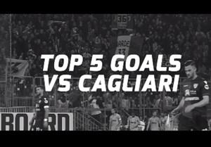 5 گل برتر یوونتوس مقابل کالیاری