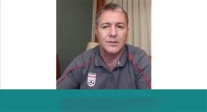 پیام سرمربی تیم ملی فوتبال ایران به مدافعان سلامت