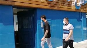 دانشگر برای حضور در جلسه انضباطی وارد باشگاه استقلال شد