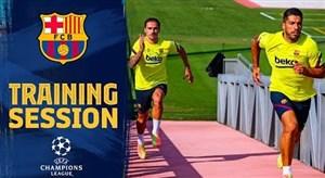 تمرینات امروز تیم بارسلونا (9 مرداد 1399)