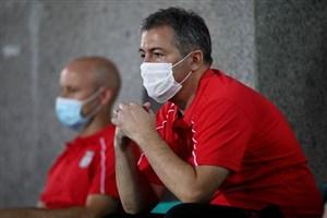 اسکوچیچ خسته از تماشای بازی بدون گل (عکس)