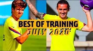 بهترین لحظات تمرینات بارسلونا در ماه جولای 2020