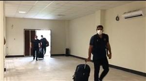 ورود تیم نساجی به ورزشگاه وطنی برای دیدار با پرسپولیس
