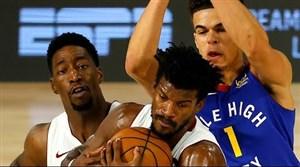خلاصه بسکتبال دنور ناگتس  - میامی هیت