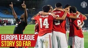 مسیر صعود منچستریونایتد به مرحله یک هشتم لیگ اروپا