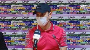 نشست خبری گل محمدی پیش از بازی با ذوب آهن