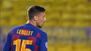 گل اول بارسلونا مقابل ناپولی(لنگلت)