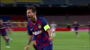 گل دوم بارسلونا به ناپولی (مسی)