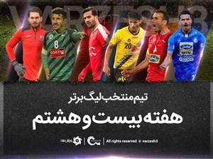 تیم منتخب هفته بیست و هشتم لیگ برتر