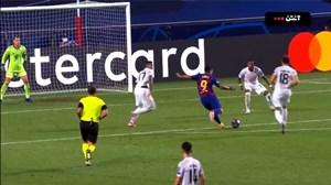گل دوم بارسلونا به بایرن مونیخ توسط سوارز