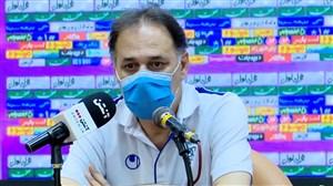 نشست خبری نامجو مطلق بعد از بازی با پیکان