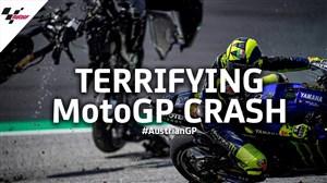 تصادف وحشتناک در Moto gp اتریش 2020