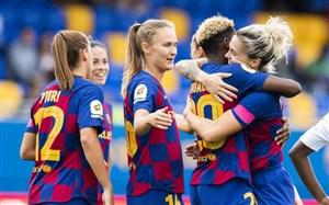 تیم فوتبال زنان بارسلونا جور مردان را کشید