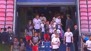 لحظه ورود و تمرین دو تیم بایرنمونیخ و پاریسنژرمن