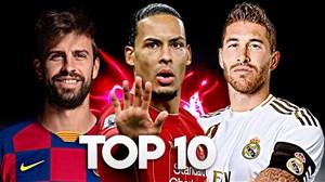 برترین مدافعان فوتبال اروپا در فصل 20-2019