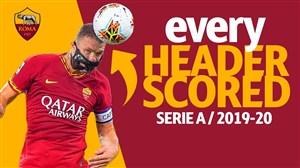 تمام گلهای با ضربه سر از تیم آ اس رم در فصل 20-2019
