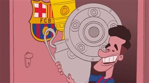 انیمیشن جالب عمر مومنی از بازگشت کوتینیو به بارسلونا