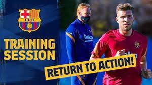 تمرینات بارسلونا زیر نظر کومان سرمربی جدید این تیم
