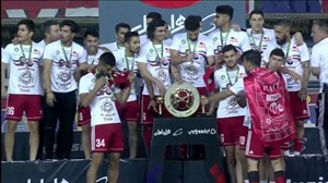 مراسم کامل اهدای مدال جام حذفی ایران به تیم تراکتور