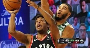 خلاصه بسکتبال بوستون سلتیک - تورنتو رپترز