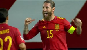 گل دوم اسپانیا به اوکراین ( دبل راموس )