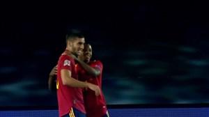 گل چهارم اسپانیا به اوکراین ( فران تورس )