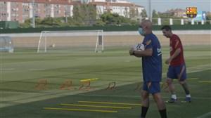 تمرینات امروز بارسلونا با حضور مسی