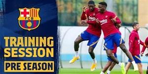 تمرینات بارسلونا با حضور ستاره ها