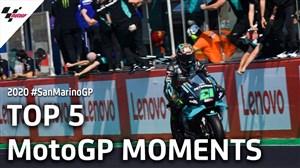 5 لحظه برتر Moto gp در سن مارینو