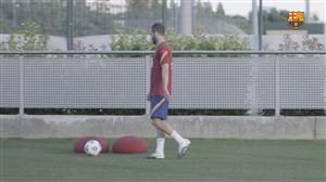 تمرینات بارسلونا برای دیدار دوستانه برابر خیرونا