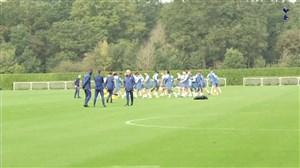 تمرینات تاتنهام برای دیدار در مقدماتی یورو لیگ