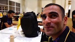 صحبتهای مهدی کیانی، قبل از عزیمت به ورزشگاه