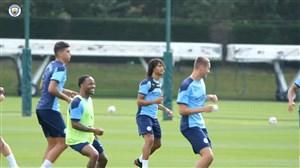 بازیکنان منچسترسیتی آماده برای شروع لیگ برتر جزیره