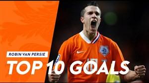 10 گل برتر رابین فن پرسی در تیم ملی هلند