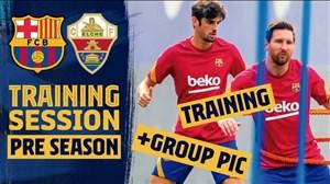 تمرینات آماده سازی بازیکنان بارسلونا برای دیدار با الچه