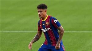 گل اول بارسلونا به سویا توسط کوتینیو