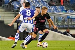 عملکرد اودگارد در اولین بازی رسمی برای رئال مادرید