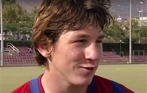 مصاحبهای دیده نشده از لیونل مسی جوان در بارسلونا