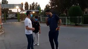 خوش و بش عمرانزاده و جباری در حاشیه دیدار تدارکاتی