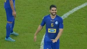 گل دوم استقلال به الاهلی با ضربه سر علی کریمی