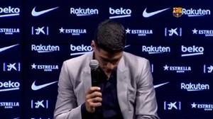 پیام خداحافظی لوئیس سوارز از باشگاه بارسلونا