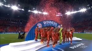 مراسم اهدای جام سوپرکاپ اروپا به بایرن مونیخ