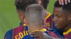 گل اول بارسلونا به ویارئال توسط آنسو فاتی